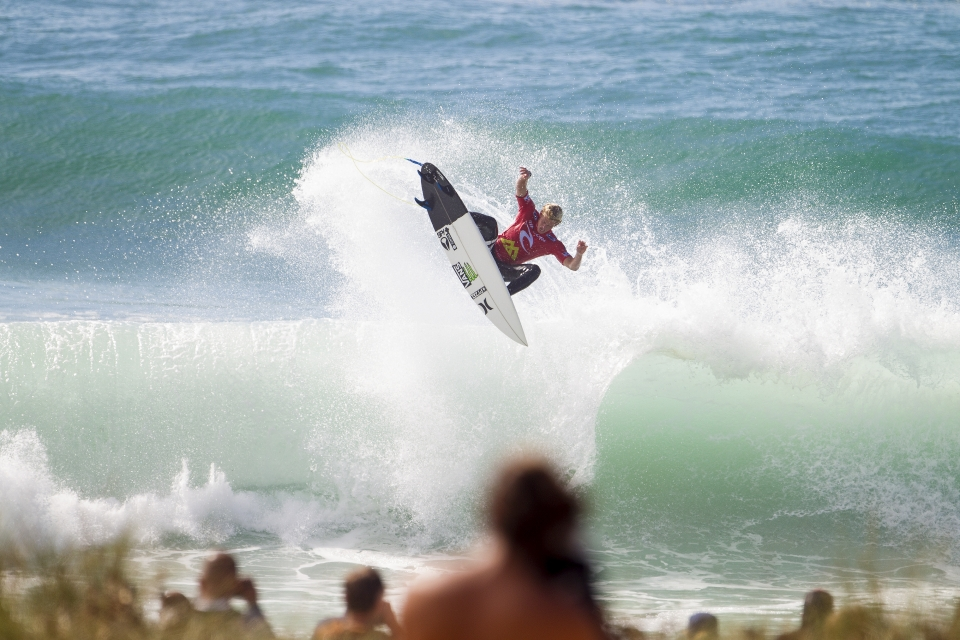 """""""I was really nervous going into this heat with Filipe, he's really scary especially with this wind,"""" said Florence. """"I kind of had airs on my mind and tried a couple that I didn't pull together, then I got that one and I'm stoked I landed it."""""""