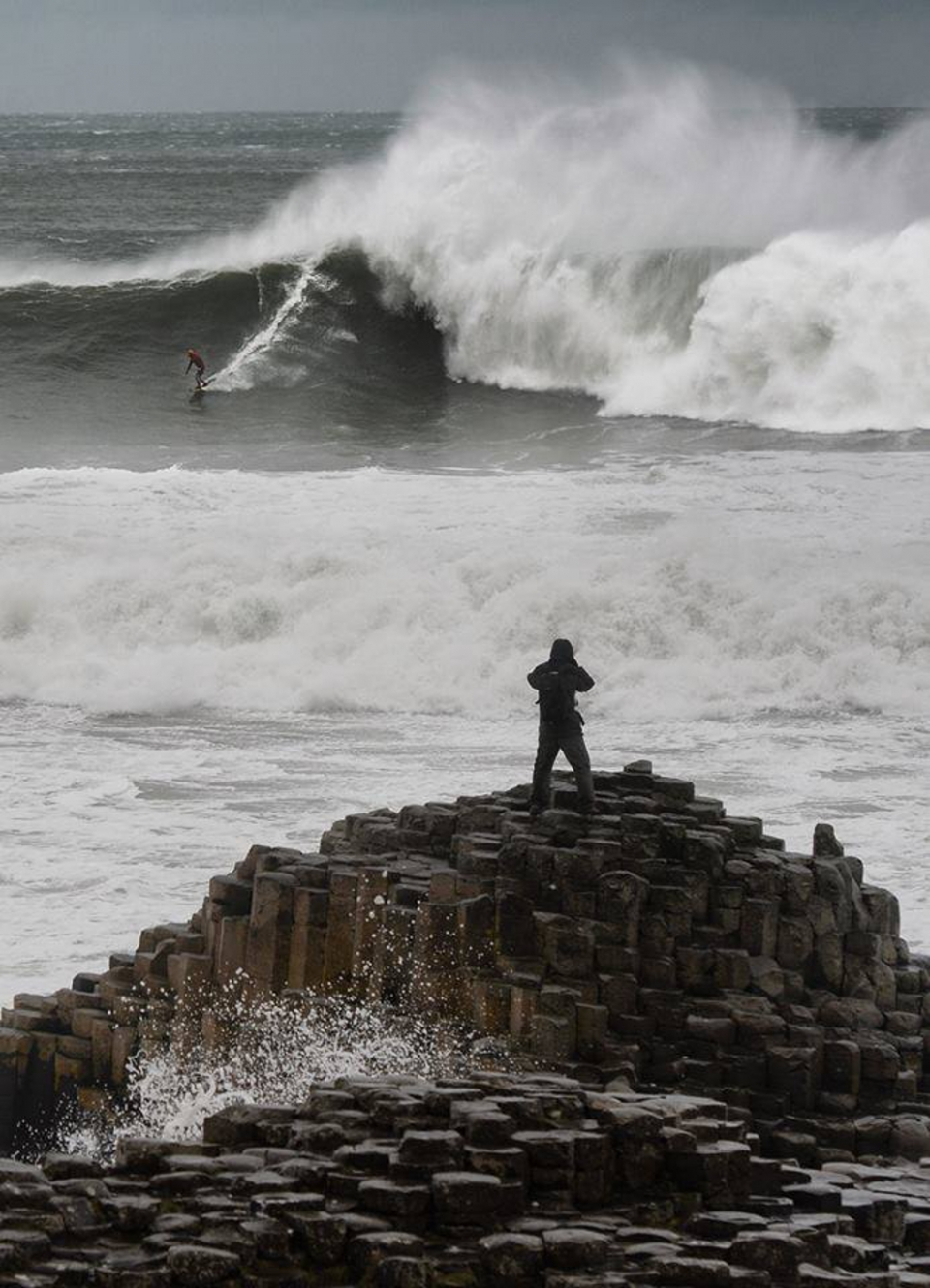 The geology wasn't the only attraction this day at the Giant's Causeway, Northern Ireland.  Rider: Al Menie
