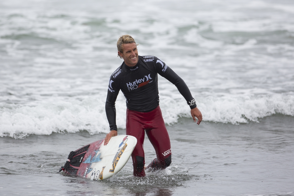"""""""I knew I had to play a smart game plan and I also just went for broke,"""" Gudauskas said. """"To win that heat, I'm stoked because this result will really help my requalification chances. It's so epic to have my friends down on the beach and thanks to everyone in San Clemente for coming down and watching."""""""