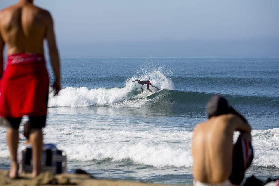 Local boy, Pat Gudauskas, claimed his first ever Hurley Pro heat win against Ace Buchan.