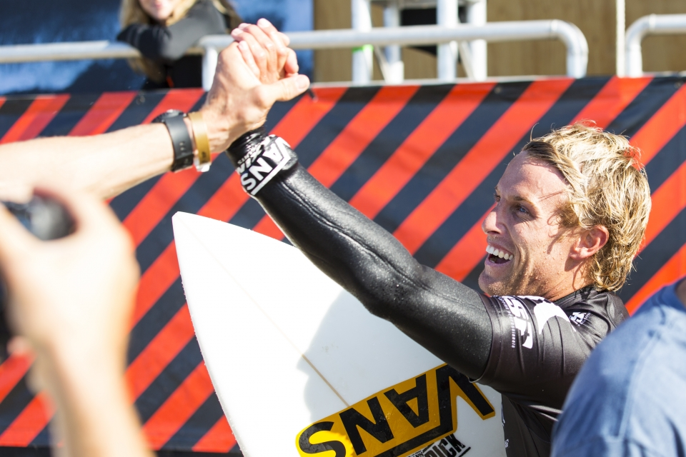 """""""The local support is so sick and that is the first 'CT heat I've ever made here at Trestles, so I'm pumped,"""" Gudauskas said. """"I was feeling pretty confident. I've been surfing well and the conditions are pretty good for the local guys. I'm feeling good going in to this event, I had the win in Virginia Beach and I've got good boards right now."""""""