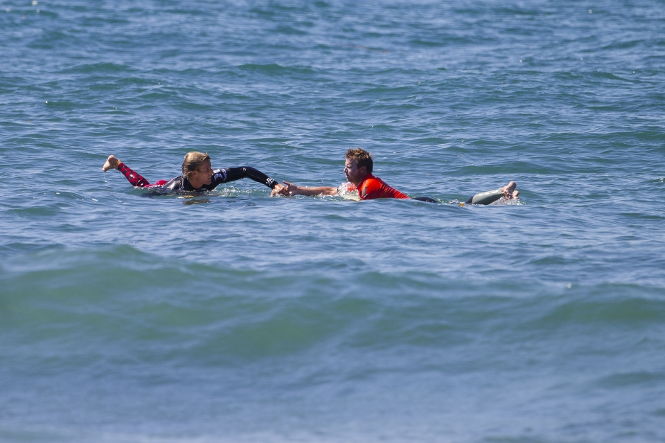 After the excitement of eliminating Slater and winning in Round 4, Pat Gudauskas couldn't quite harness the momentum to pass Burrow in the quarters.