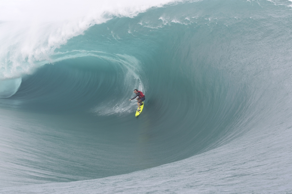 Laurie Towner feels upset if it isn't 10ft and barrelling