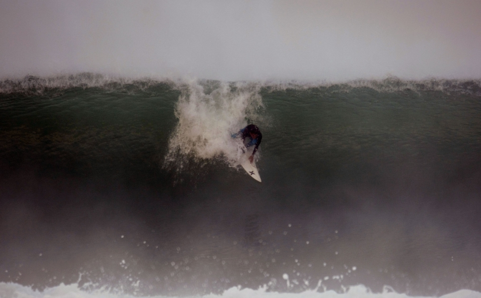 Naoum Ildefonse has recently been splitting his time between Nazare and Hossegor. At this size, both are as unforgiving as eachother.