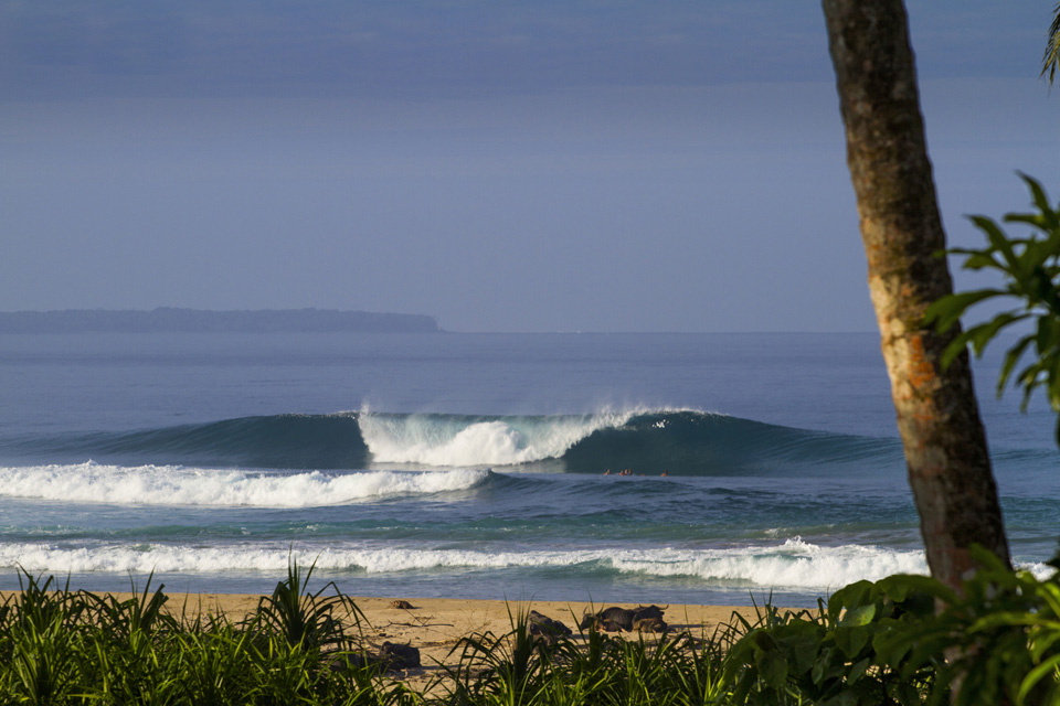 The kind of days that make you know you're alive, blue skies, solid swell and a thick lip fast approaching your head.