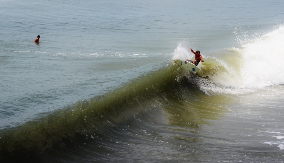 Topsaild Island local Cody with a jam off the lip