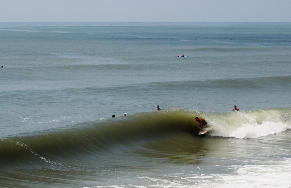 If you timed it right, there were barrels to be had at Topsail Island