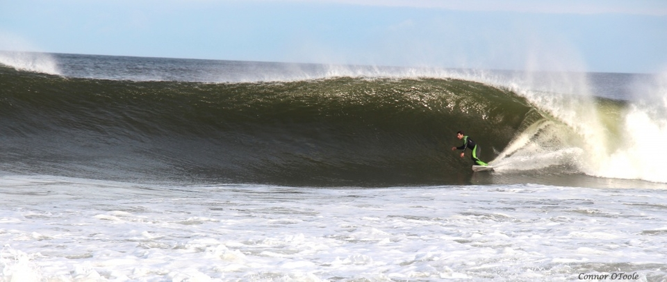 Good size, clean waves at Belamar, New Jersey