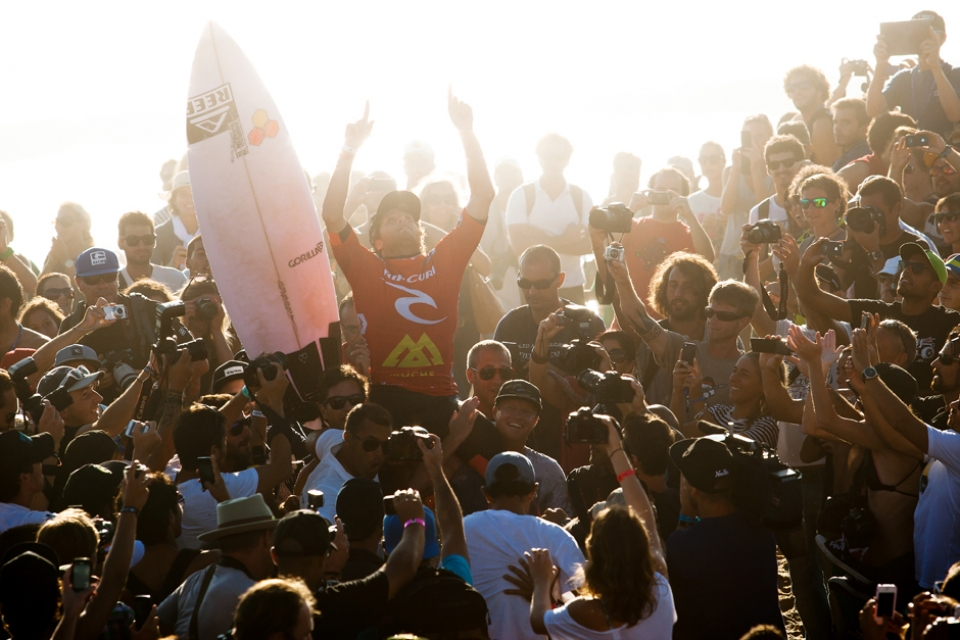 Kai Otton Rip Curl Pro champion and a bloody popular one at that.