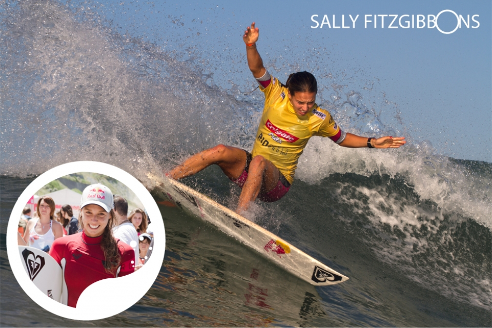 """France holds a special place in our hearts as touring surfers, I fell in love with the place on my first ever visit and am super stoked every time I get to return.""     Sally Fitzgibbons became  the youngest ever qualifier for the  World Title Race aged 17 and has  been hunting an ASP World Title ever  since, agonizingly finishing runnerup  for the last three years. A versatile,  radical performer and savvy competitor,  many believe it's only a matter of  time before she delivers the sport's  ultimate prize. An impressive athlete  who has competed on a national level  at athletics as a school girl, Sally is  known for a rigorous training regime  that comes in handy in France's infamous  beachbreak rips.      Having reached success as the Swatch Girls Pro Champion in 2011, Fitzgibbons will no doubt be hungry to restore her former title at this years event."