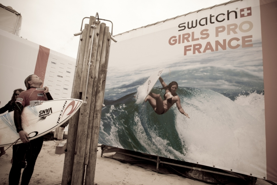 Pauline Ado post heat at the Swatch Girls Pro