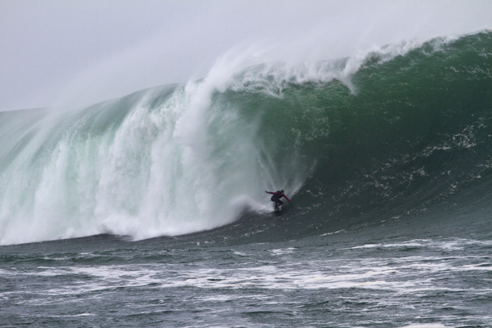 Tom Butler dropping into a Mullaghmore beast.... Sequence to follow...