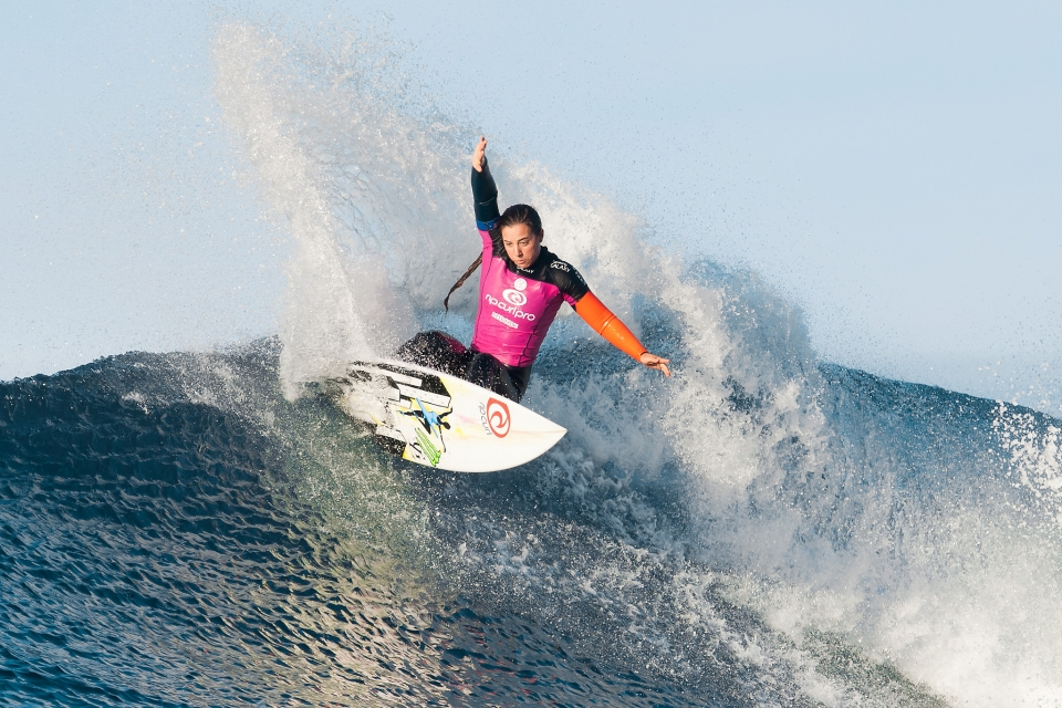 "Tyler Wright (runner-up): ""Carissa (Moore) is just an amazing human and a great winner. When I hit the water it's all about surfing and catching waves and I like to enjoy what I'm doing and be in the moment, not worry about anything else that I can't control. I just want to surf the way I surf."""
