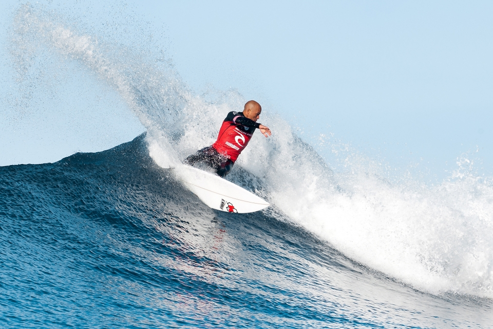 "An out-of-sorts Slater is still fairly exceptional. He failed to find a backup against John John and bowed our in the quarters. ""I had the waves to win the Heat and he (Florence) capitalized on my mistakes,"" said Kelly Slater. ""It was a slow Heat so the nerves build and I forced a couple of turns. I think after I blew it on that one wave it hit my confidence. I'll be hard on myself on that one for the next few hours I think. I've been a little nervous this whole contest and I haven't felt real confident in my surfing lately. I've had a couple of things nagging me and I haven't been free surfing enough. I'm happy for John John though. I've had a couple of quarterfinals and a Semifinal so the Australian leg hasn't been too bad for me."""