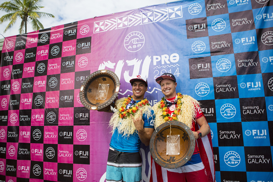 """It's great to be back at the top of the ratings, it's still early but I'm feeling good,"" said Gabriel Medina."