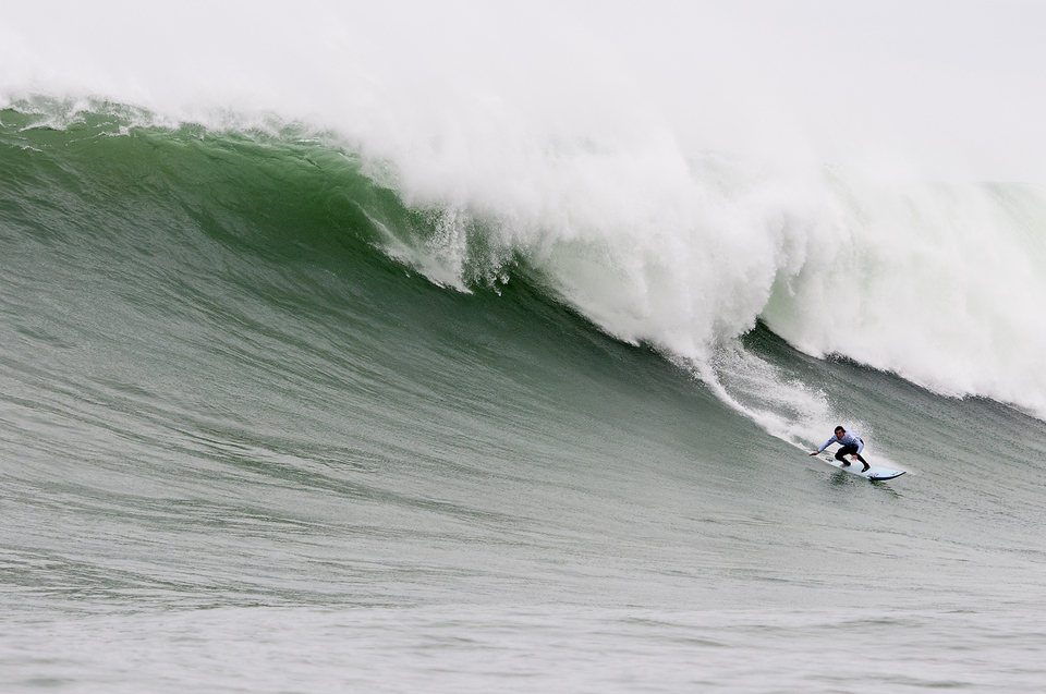 Greg Long also made the final. He's renowned for waiting out the back for only the biggest waves and ended up with just one scoring ride.