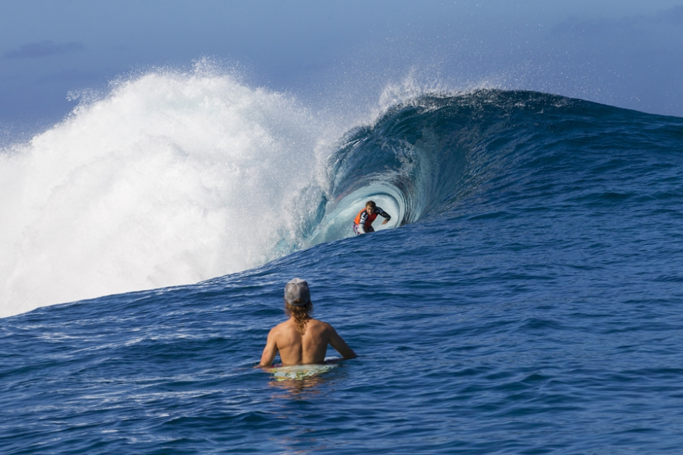 Anthony Walsh seeing what the focussing power of the Teahupoo reef looks like from the inside.