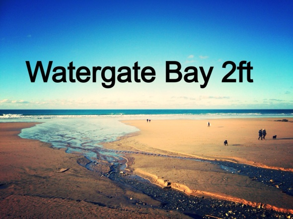 Surf report photo of Watergate Bay