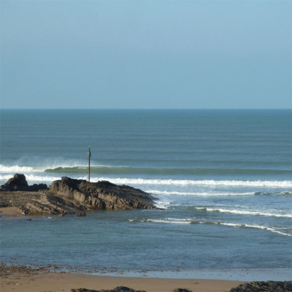 Surf report photo of Bude - Crooklets