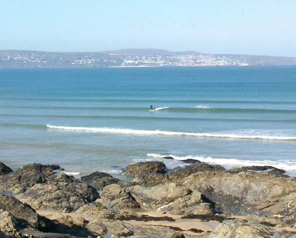 Surf report photo of Gwithian