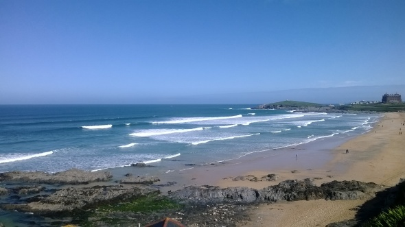 Surf report photo of Newquay - Fistral North