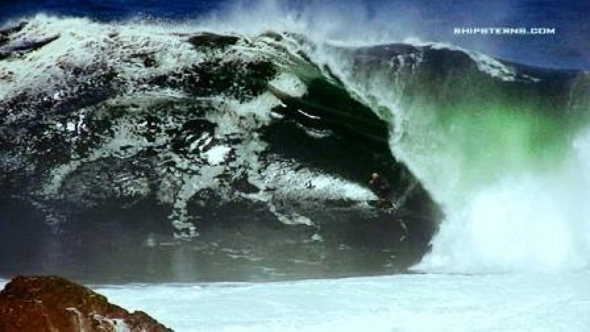 the captain's photo of Shipstern Bluff