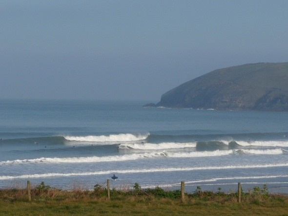 Trev toes Lumley's photo of Croyde Beach