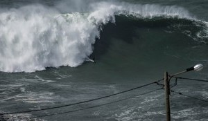 Giant Nazare From a Drone