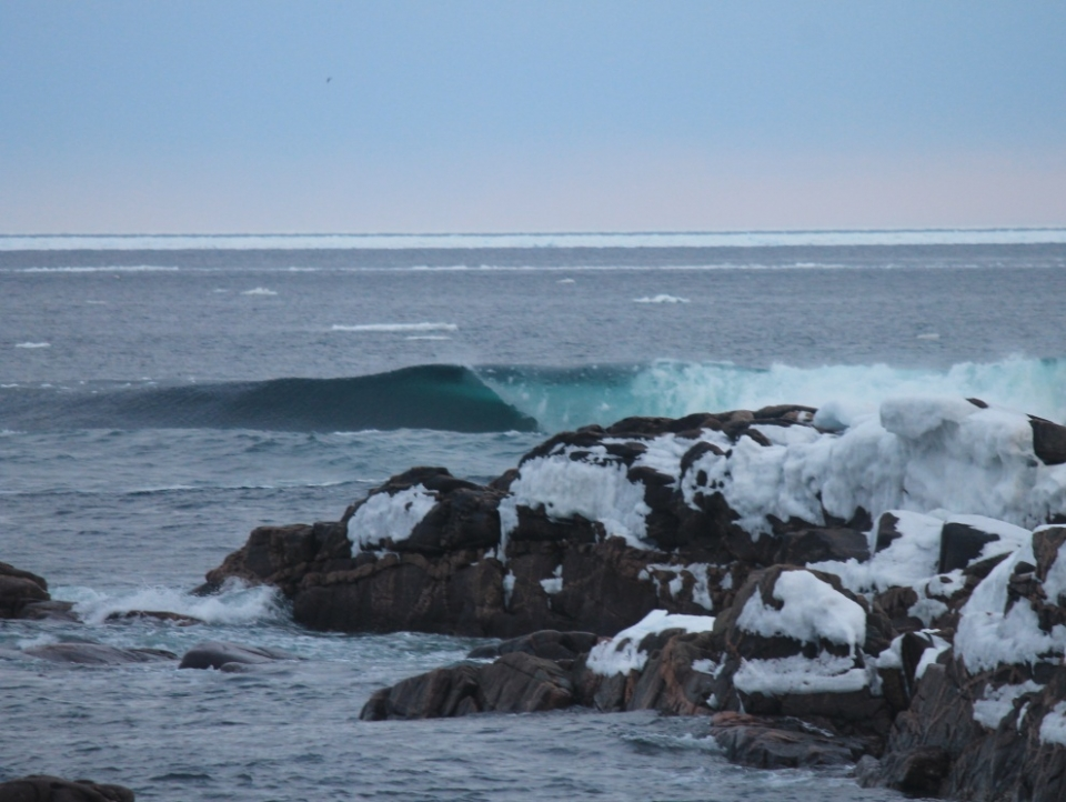 A distressingly cold slab in Nova Scotia. If you do enter the water on days such as this, make sure you have a warm sweet drink and plenty of dry layers when you get out.
