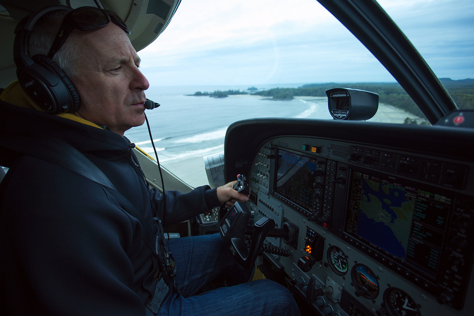 Flying in to Nootka gives you the chance to check out the setups.