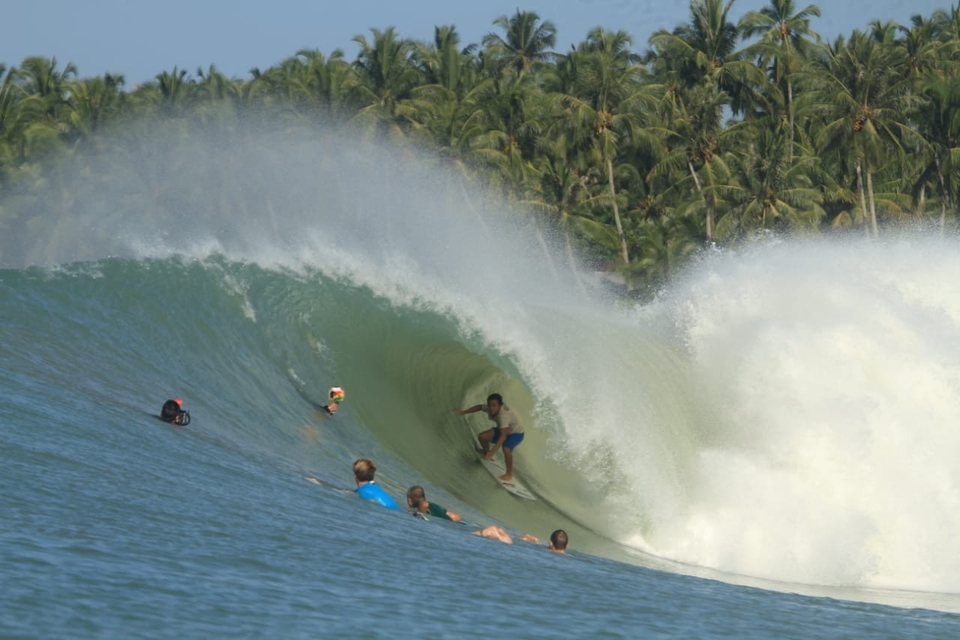 Surfing Nias isn't for the feint-hearted.