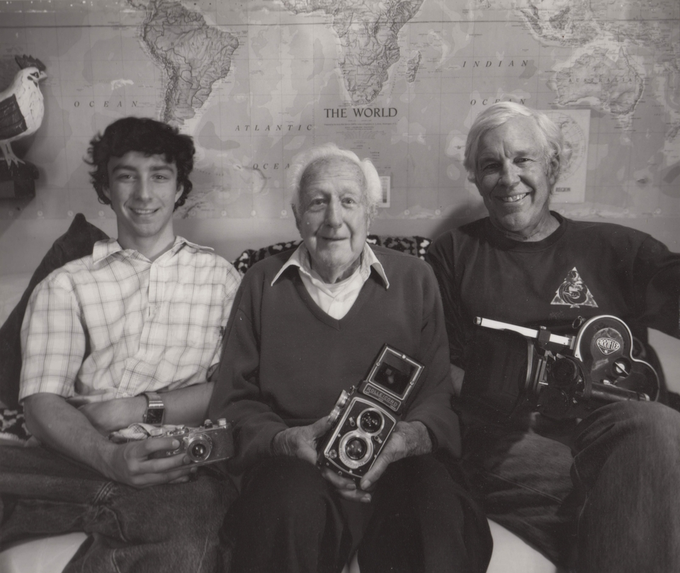 Three generations of cameramen: Andrew Heick, William R. Heick, Bill Heick.