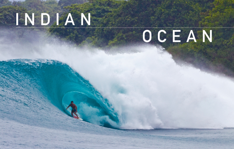 "It is surprising that the Indian Ocean is home to the best waves in the world, considering the Pacific is the largest ocean and the Atlantic is the stormiest.    What makes it so good is actually the one ingredient that it is so obviously missing – land! When a storm crosses any other ocean, it eventually crashes into a continent, but not in the empty, marine kingdom between the Roaring Forties and the Great Southern Ocean, where low pressure systems have a clear path of circumnavigation, squirting the planet with all strains of south swell. Indonesia and a sprinkling of Indian Ocean islands have proved themselves the most able catchers of this reliable swell, transforming it into a glut of world-class spots in balmy, tropical latitudes, fanned by trustworthy trades and monsoons. Indonesia has fast become the centre of the surfing holiday universe, while a flotilla of charter boats troll the islands of this incredible archipelago for a never-ending ""catch of the day"". Furthermore, out in the deep blue, sparkling atolls and islands beckon from the Maldives to Madagascar, challenging the traveller to plug into some Indian Ocean power lines."