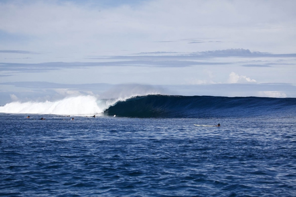 By  Tuesday  we were surfing eight foot Cloudbreak with Reef Macintosh and Mark Healey - evidence that this was not going to be your every day swell. As if that wasn't enough, we witnessed said swell produce the biggest waves ever ridden at Shipstern on the same day.