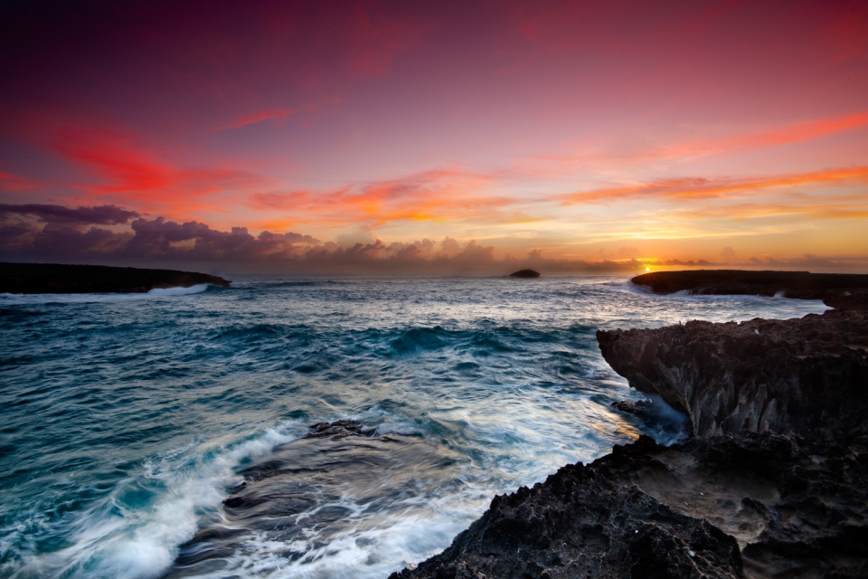 Laie Point sunrise, just round the corner from the North Shore.