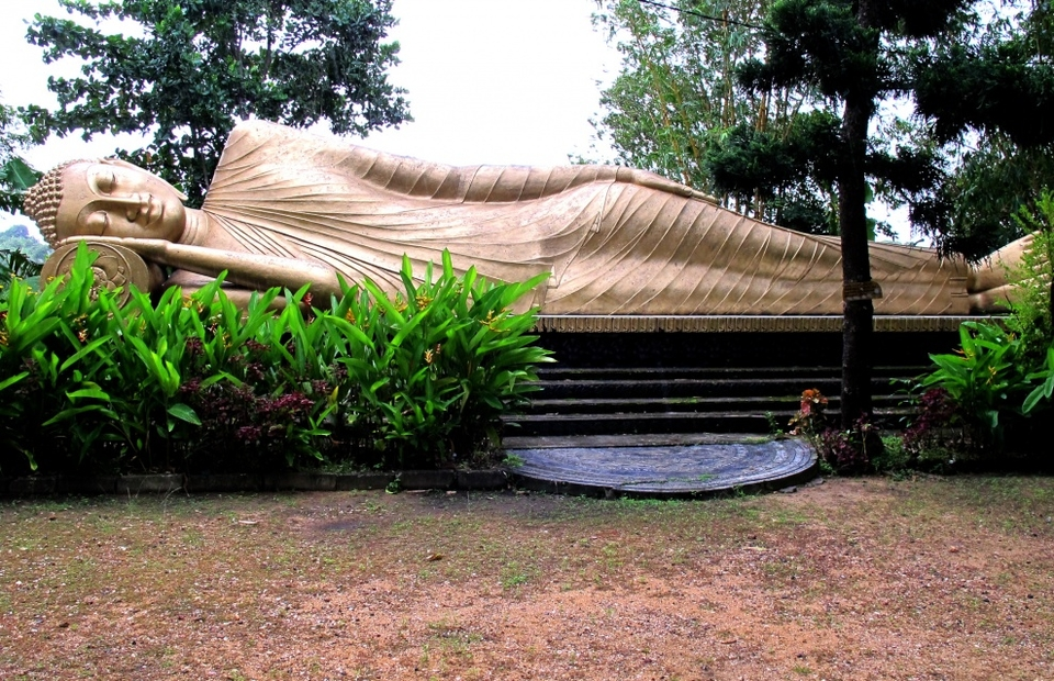 A 40ft long sleeping golden Buddha. There's a temple in Sri Lanka that actually has one of Buddha's teeth.