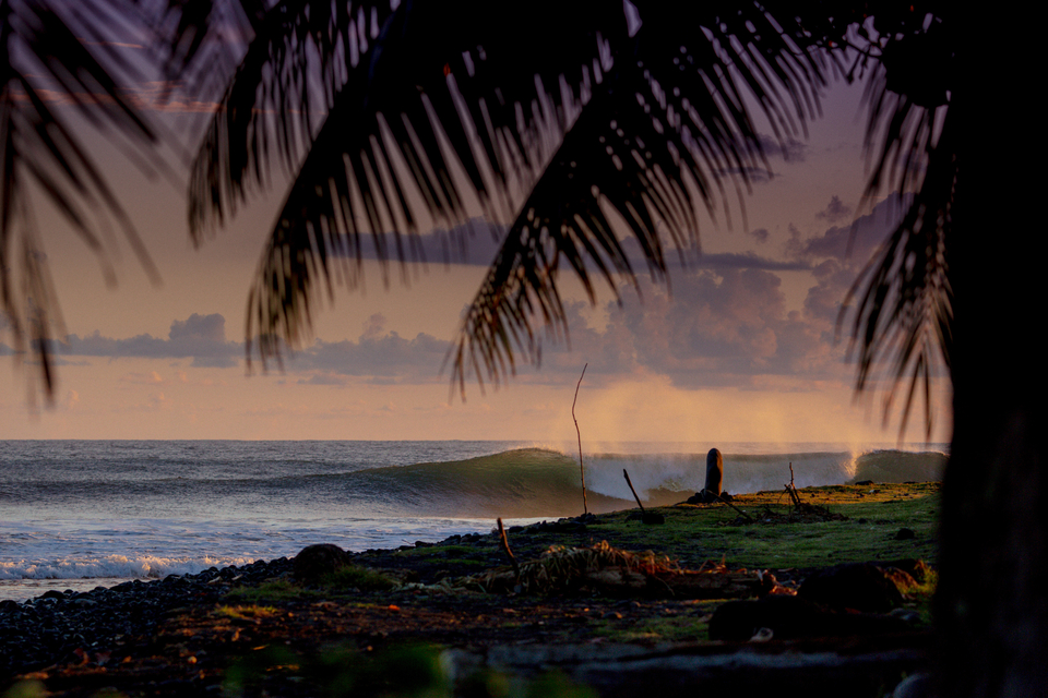 As well as a world class juggernaut on Tahiti, there's world class beachies too.