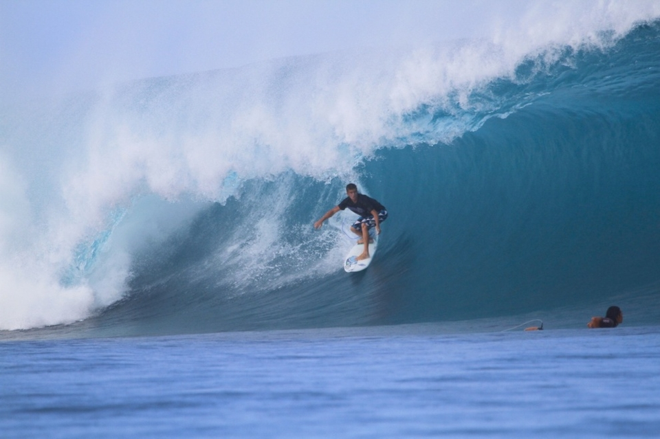 Riding the barrel backside at Kandui Left is one of the most difficult things to accomplish in the Mentawais.