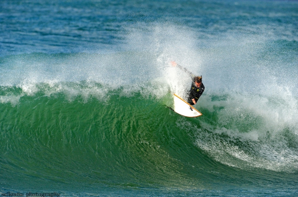 Yam Saadon's a great underground charger, brutalising the lip on a good one at Backdoor.