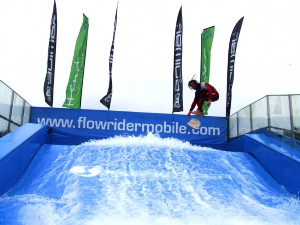 skindog at the 2012 surf and mobile flowrider surfcamp