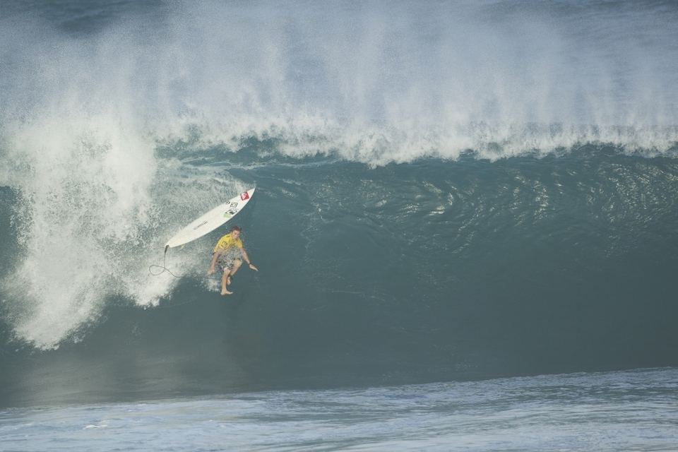 Regular Pipeline charger Mark Healey took the beating of the day.