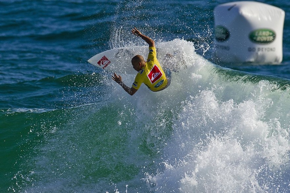 MEN    UPCOMING QUIKSILVER PRO GOLD COAST QUARTERFINAL MATCH-UPS:   HEAT 1: Adriano De Souza (BRA) vs. Owen Wright (AUS)  HEAT 2: Kelly Slater (USA) vs. Josh Kerr (AUS)  HEAT 3: Jordy Smith (ZAF) vs. Joel Parkinson (AUS)  HEAT 4: Taj Burrow (AUS) vs. Adrian Buchan (AUS)     QUIKSILVER PRO GOLD COAST ROUND 5 RESULTS:   HEAT 1: Owen Wright (AUS) 16.20 def. Michel Bourez (PYF) 15.43  HEAT 2: Josh Kerr (AUS) 14.44 def. Heitor Alves (BRA) 9.84  HEAT 3: Joel Parkinson (AUS) 18.00 def. Julian Wilson (AUS) 10.06  HEAT 4: Adrian Buchan (AUS) 14.03 def. Miguel Pupo (BRA) 13.27    QUIKSILVER PRO GOLD COAST ROUND 4 RESULTS:   HEAT 1: Adriano De Souza (BRA) 15.37, Owen Wright (AUS) 15.134, Josh Kerr (AUS) 9.00  HEAT 2: Kelly Slater (USA) 14.00, Michel Bourez (PYF) 12.13, Heitor Alves (BRA) 11.10  HEAT 3: Jordy Smith (ZAF) 15.44, Joel Parkinson (AUS) 15.30, Miguel Pupo (BRA) 11.04  HEAT 4: Taj Burrow (AUS) 17.34, Adrian Buchan (AUS) 12.33, Julian Wilson (AUS) 9.33    WOMEN    UPCOMING ROXY PRO GOLD COAST SEMIFINALS MATCH-UPS:   SF 1: Tyler Wright (AUS) vs. Laura Enever (AUS)  SF 2: Sally Fitzgibbons (AUS) vs. Stephanie Gilmore (AUS)    ROXY PRO GOLD COAST QUARTERFINALS RESULTS:   QF 1: Tyler Wright (AUS) 18.03 def. Carissa Moore (HAW) 13.47  QF 2: Laura Enever (AUS) 13.57 def. Silvana Lima (BRA) 12.23  QF 3: Sally Fitzgibbons (AUS) 17.00 def. Malia Manuel (HAW) 12.00  QF 4: Stephanie Gilmore (AUS) vs. Courtney Conlogue (USA)    ROXY PRO GOLD COAST ROUND 4 RESULTS:   HEAT 1: Carissa Moore (HAW) 17.13 def. Sarah Mason (NZL) 10.80  HEAT 2: Silvana Lima (BRA) 14.73 def. Paige Hareb (NZL) 10.50  HEAT 3: Sally Fitzgibbons (AUS) 18.13 def. Lakey Peterson (USA) 16.50  HEAT 4: Courtney Conlogue (USA) 15.03 def. Sofia Mulanovich (PER) 12.23   It'll all be live  here