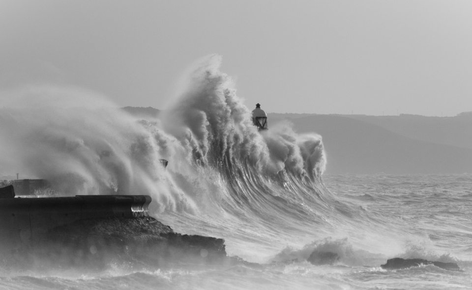 Ryan Davies' cold and stormy Porthcawl has been a popular choice.