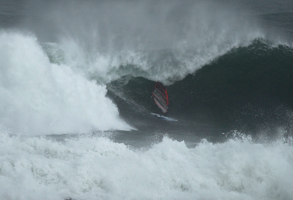 Windsurfer Finn Mullan has been eyeing up this spot for a while.