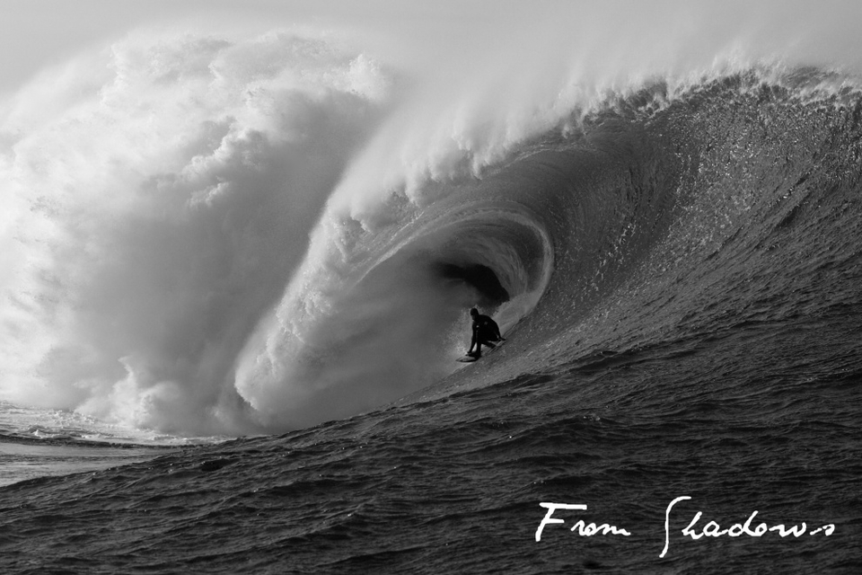 FROM SHADOWS is the bastard son of two long hectic winters riding and documenting Ireland's heaviest waves.    Mickey Smith, Tom Lowe, Fergal Smith, Greg Long, Twiggy Baker, (plus a host of local standouts) charging the waves they pioneered.