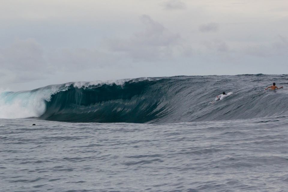 Up until this point we'd surfed friendly waves, lineups several notches less hollow and grunty than their Indian Ocean cousins to the south of Indonesia. Serenade however doesn't need much swell to pack a punch and was a welcome relief for those in the crew more used to a little oomph.