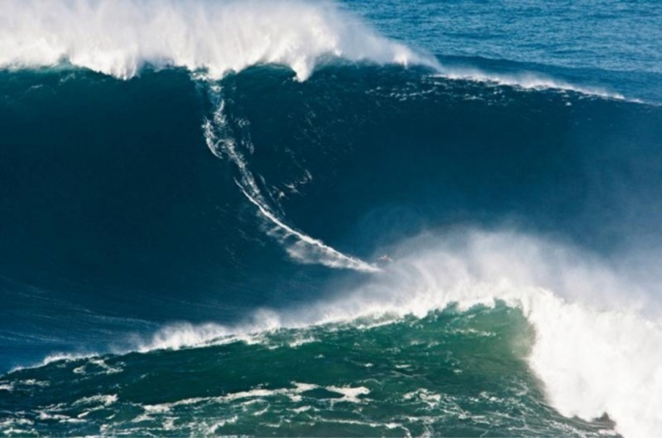 Garrett McNamara's world record 78-foot wave at Nazaré, Portugal.