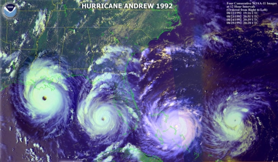 August 24, 2012 will be the 20th anniversary of Hurricane Andrew's devastating landfall in South Florida.
