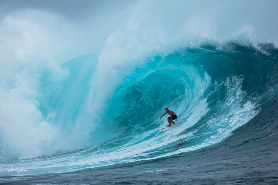 Mick Fanning on the frothy inside section