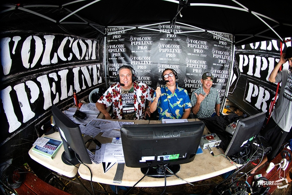 The best Web commentators in the business—Dave Stanfield, TransWorld SURF's Chris Coté, and the one and only Gerry Lopez.